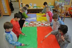 Unser Kunstunterricht findet nachmittags statt.